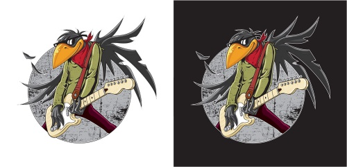 Illustration für Rockband 'Fat Birds' gesucht