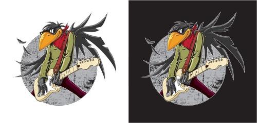 "Illustratie fr Rockband ""Fat Birds"" gesucht"