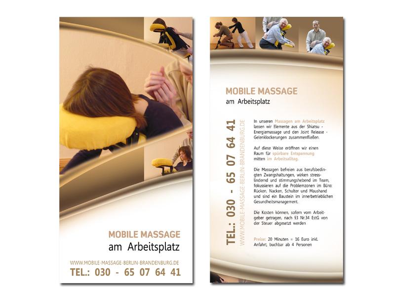 Flyer Für Mobile Massage Am Arbeitsplatz Flyer Design