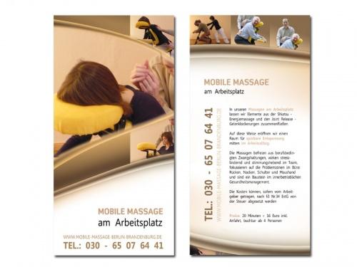 Flyer für Mobile Massage am Arbeitsplatz » Flyer-Design » Briefing ...