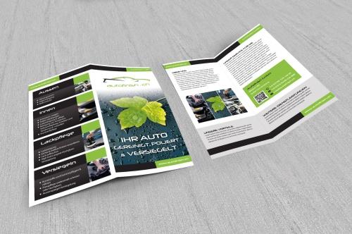 Flyer-Design für Aufbereiter von Fahrzeugen