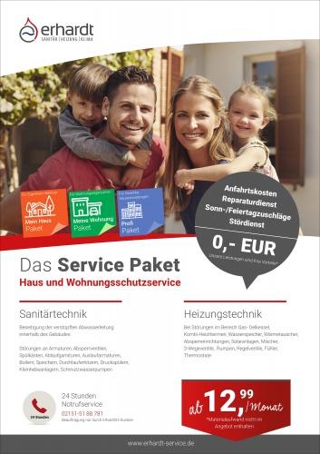 Broschüre für Service Paket