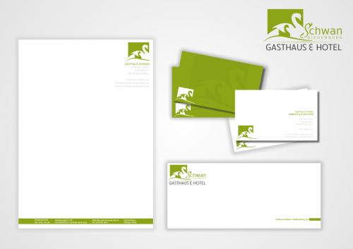 En-tête de lettre et cartes de visite pour maison d'hôtes bavaroise