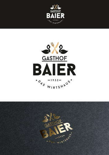 Logo-Design für bayerisches Wirtshaus mit Fremdenzimmer
