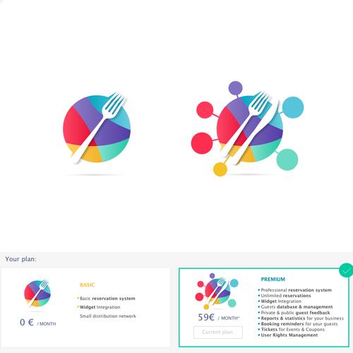 Logo-Designs für Produkte eines Reservierungs- und Gästemanagementsystems (Images for a reservation and guest management system)