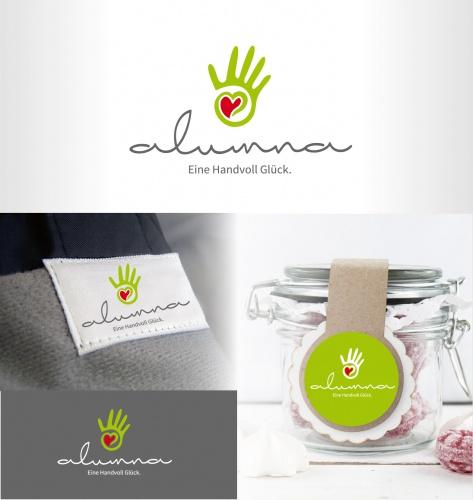 alumna Logodesign für mit Liebe von Hand Gefertigtes