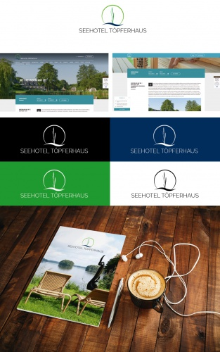 Logo-Design for 4-star lakeside boutique hotel in Northern Germany