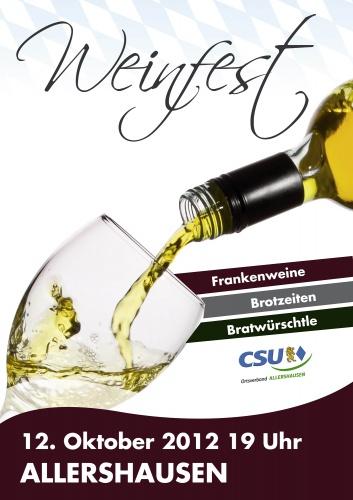 Plakat für Weinfest
