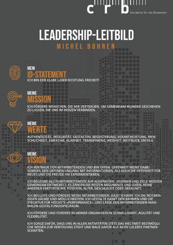 Design eines privaten Leadership-Leitbildes