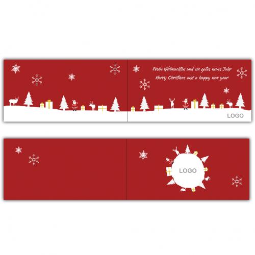 weihnachtskarten design f r eine online druckerei. Black Bedroom Furniture Sets. Home Design Ideas