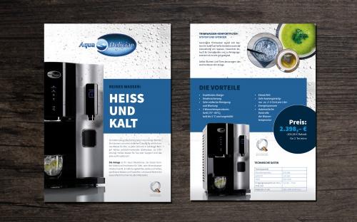 Flyer-Design für Tinkwasseraufbereiter Pinguin