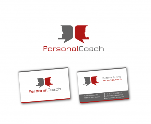 Logo Visitenkarte Für Personal Coach Logo Visitenkarte