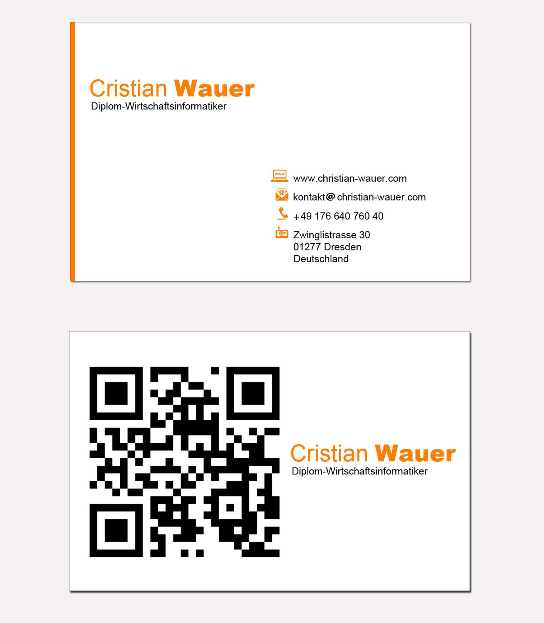 Visitenkarten und Briefpapier für IT Freiberufler Business card