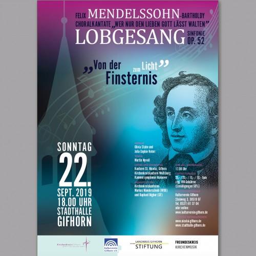 Plakat-Design für ein großes, geistliches Konzert für Chor, Orchester und Solisten