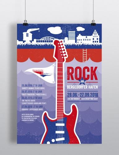 Rock am Bergedorfer Hafen Plakat-Design