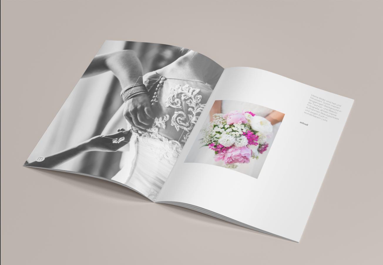 Eyecatcher-Broschüre für Hochzeitsfotografen