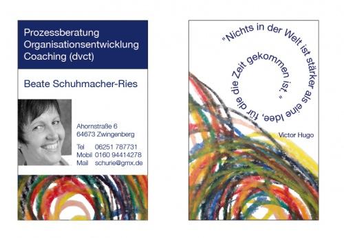Visitenkarte Coaching Und Beratung Business Card Design
