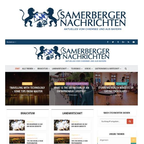 Logo-Design für bayrische Nachrichten-Webseite: Samerberger Nachrichten