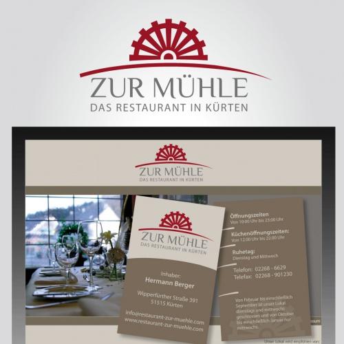 Edles Logo für ein Restaurant in altem Gemäuer mit gehobener, junger, moderner Küche und Service.