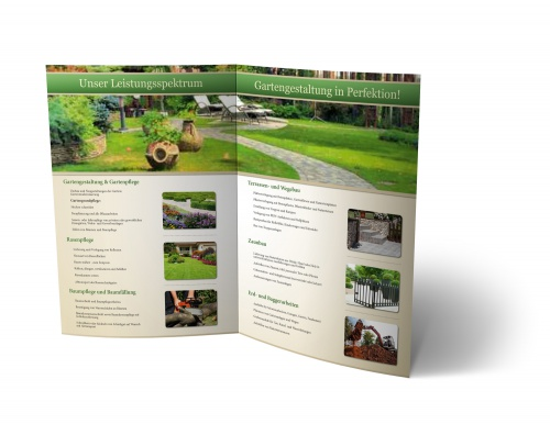 Faltmappe Im Din A4 Format 4 Seiten Leistung Flyer Design
