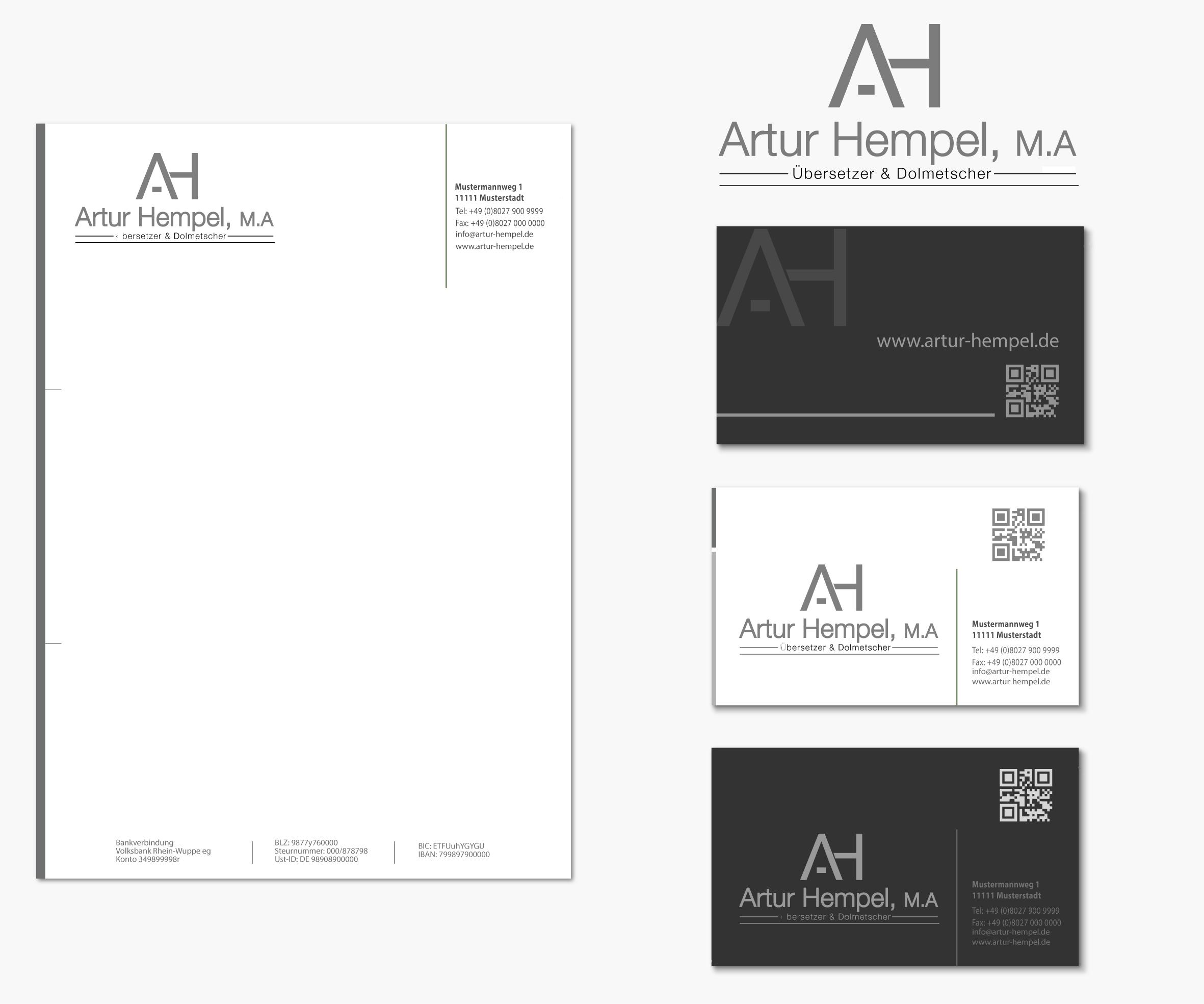 Logo Visitenkarte und Briefpapier für freiberuf Logo Design