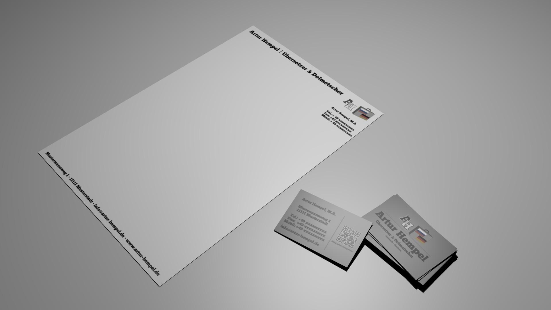 Logo Visitenkarte Und Briefpapier Für Freiberuf Logo