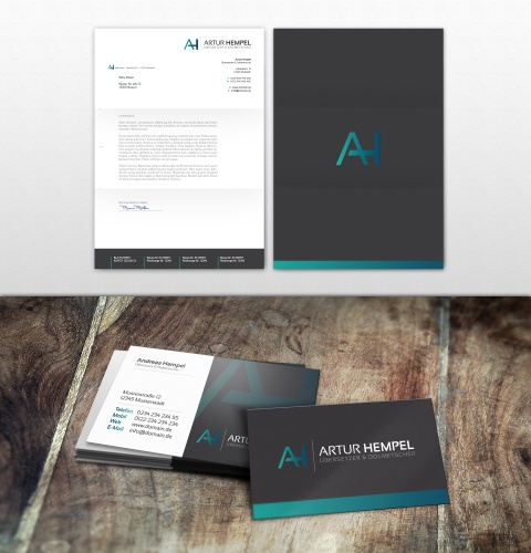 Logo, business card and letter paper for a freelance translator and interpreter
