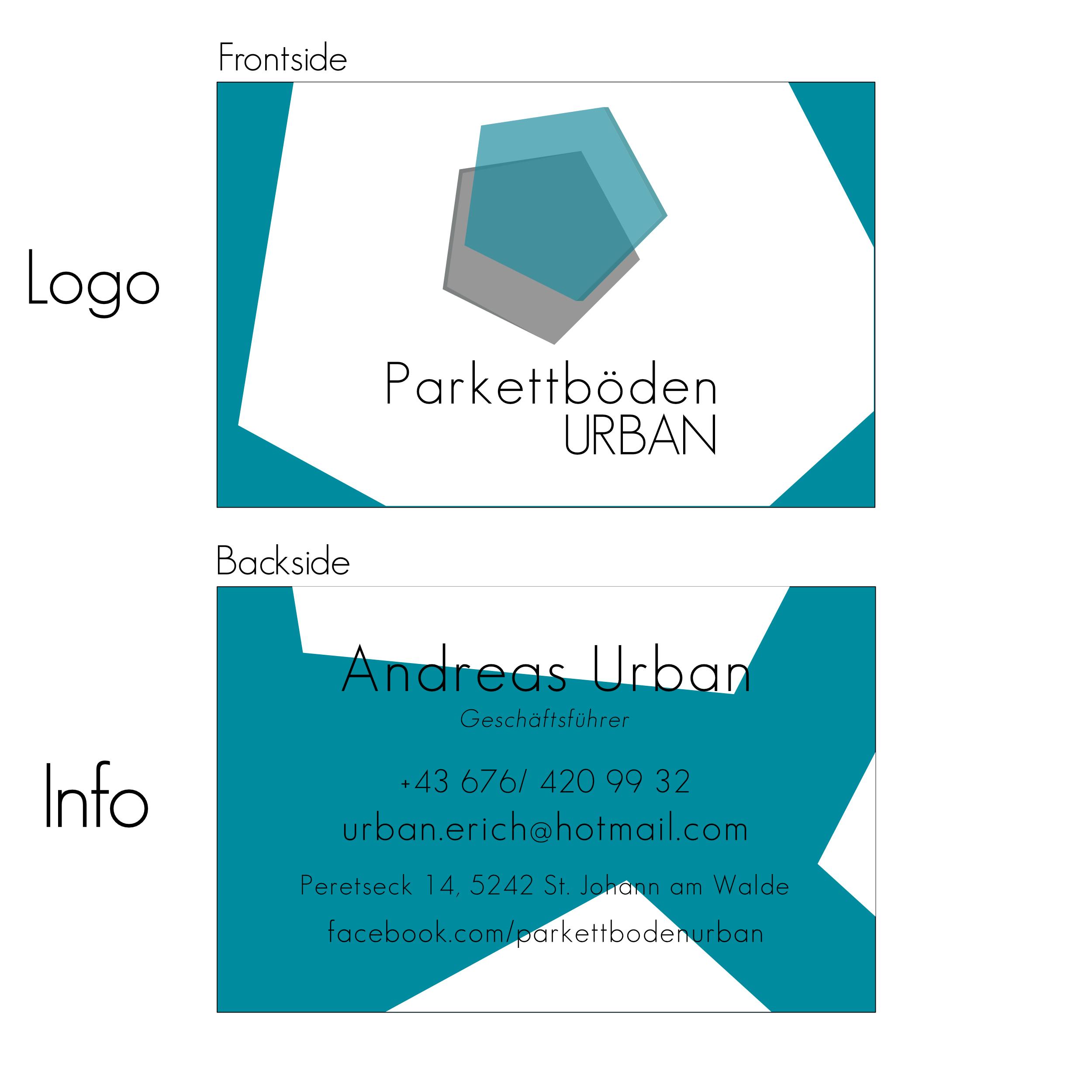 Logo Visitenkarte Für Bodenlegerfirma Aus Logo