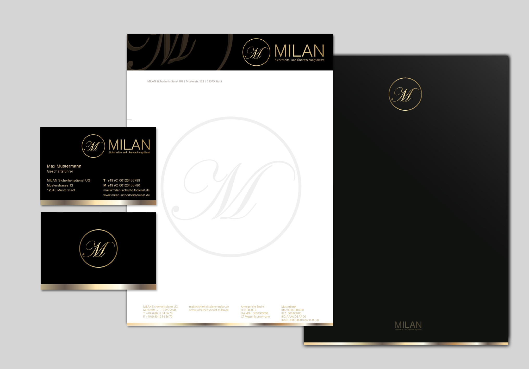 Sicherheits Und Bewachungsdienst Milan Ug Visitenkarten
