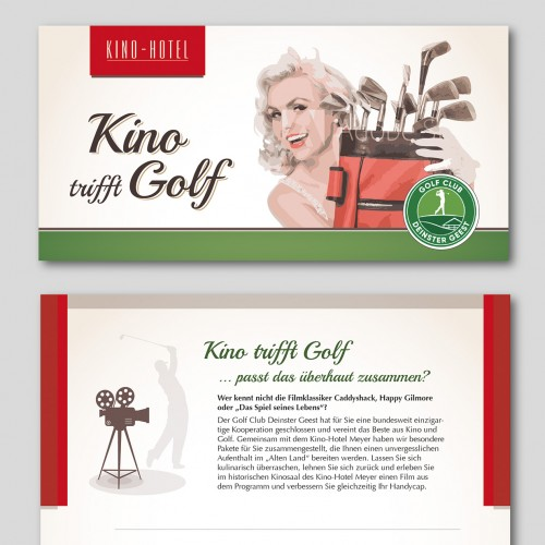 Flyer-Design - Kino trifft Golf