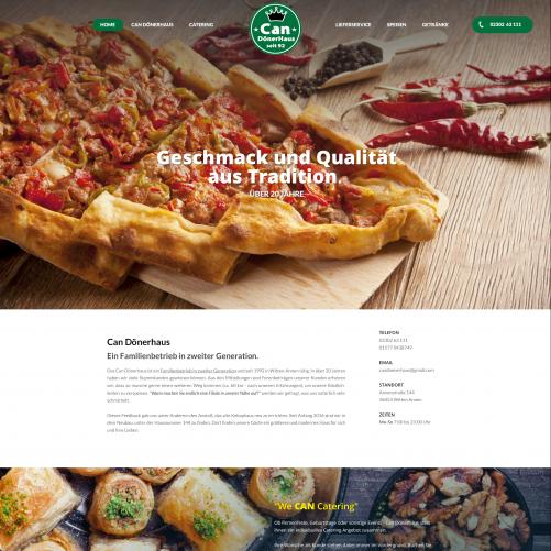 Webdesign für Restaurant / Can Dönerhaus
