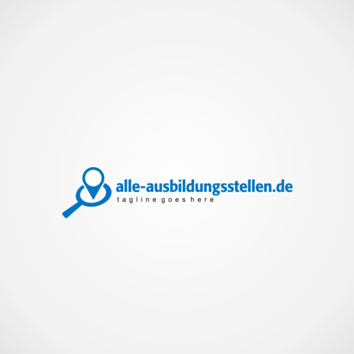 Portal für Schüler sucht Logo mit online Fokus