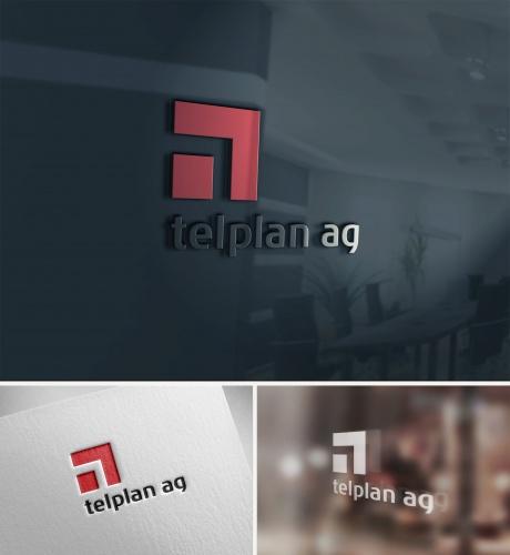 Logo-Design für telplan ag