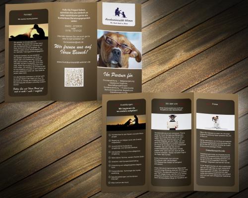 Mobile Hundeschule sucht Flyerdesign