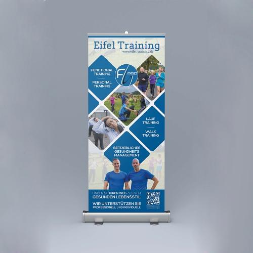 Plakat-Design für ein Roll-Up im Bereich Fitness