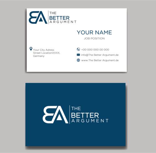 Logo & Visitenkarte für Beratung im Bereich Public Affairs, Reputation Management und Strategie