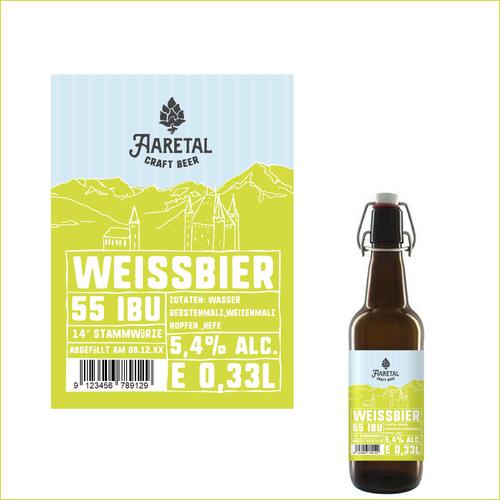 Etiketten-Design für Nano-Brauerei