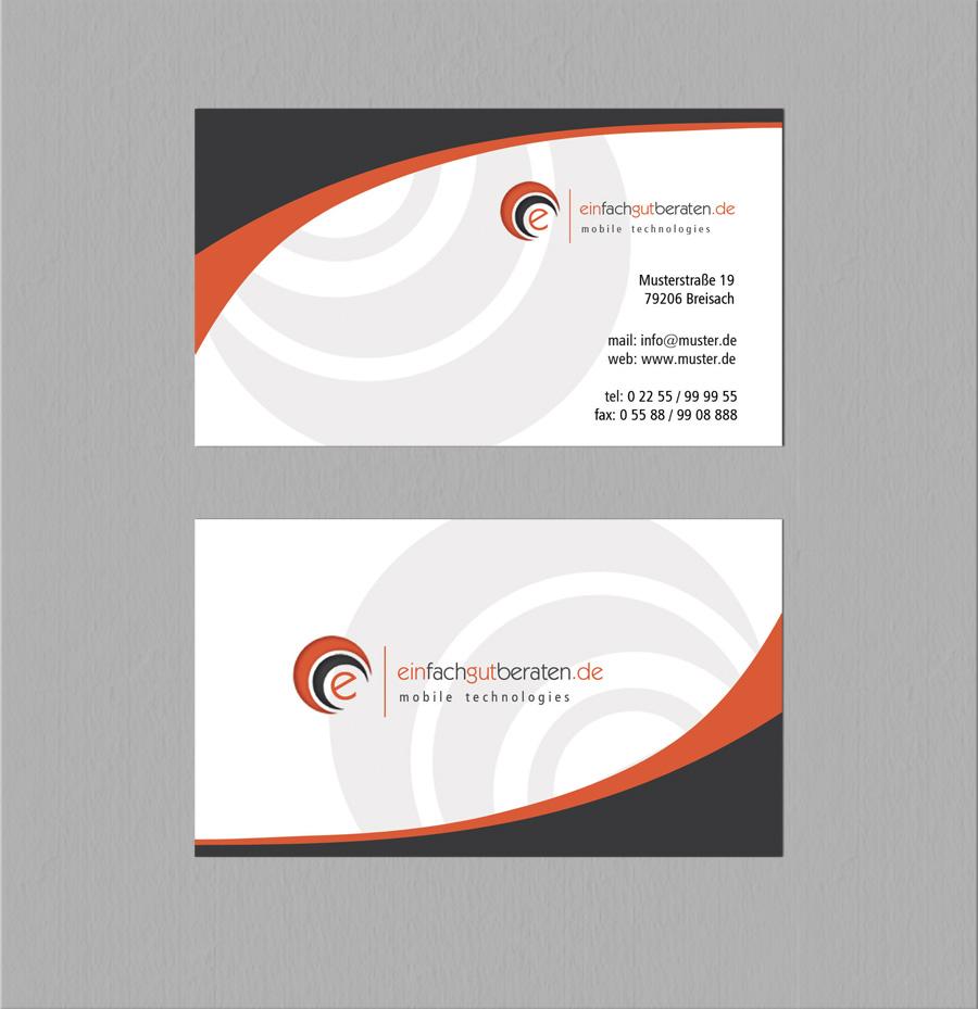 Logo Und Visitenkarte Für Freien Unternehmensber