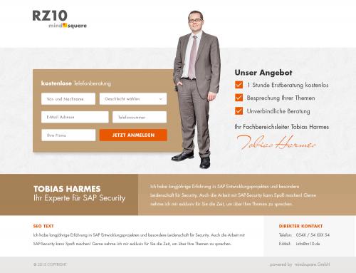 Landingpages Telefoninterview und Webinar für Technologie-Beratungsunternehmen