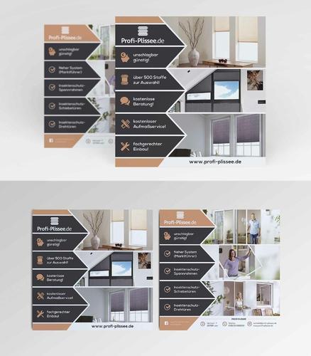 Flyer-Design für Vertreiber von Plissees und Insektenschutz
