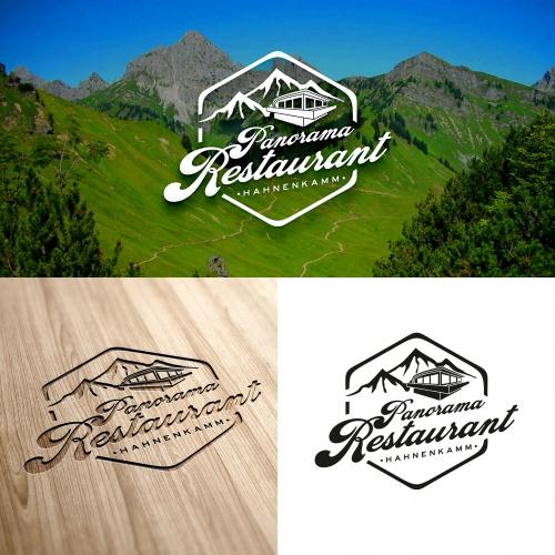 Logo-Design für Panorama Restaurant Hahnenkamm