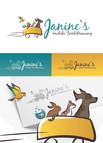 Logo-Design für mobile Tierbetreuung