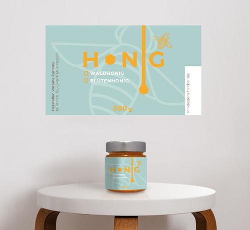 Etiketten-Design für Honig