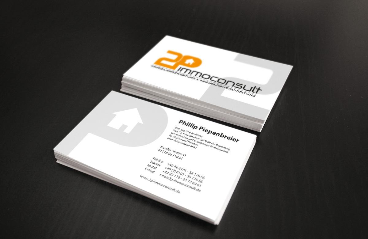 Visitenkarte Und Briefpapier Für Ein Immobilienu