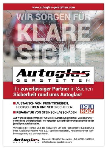 Anzeigengestaltung für Autoglas-Unternehmen