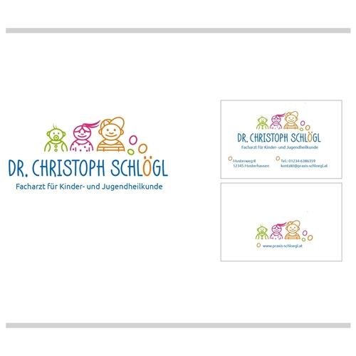 Logo & Visitenkarte für Facharzt für Kinder- und Jugendheilkunde