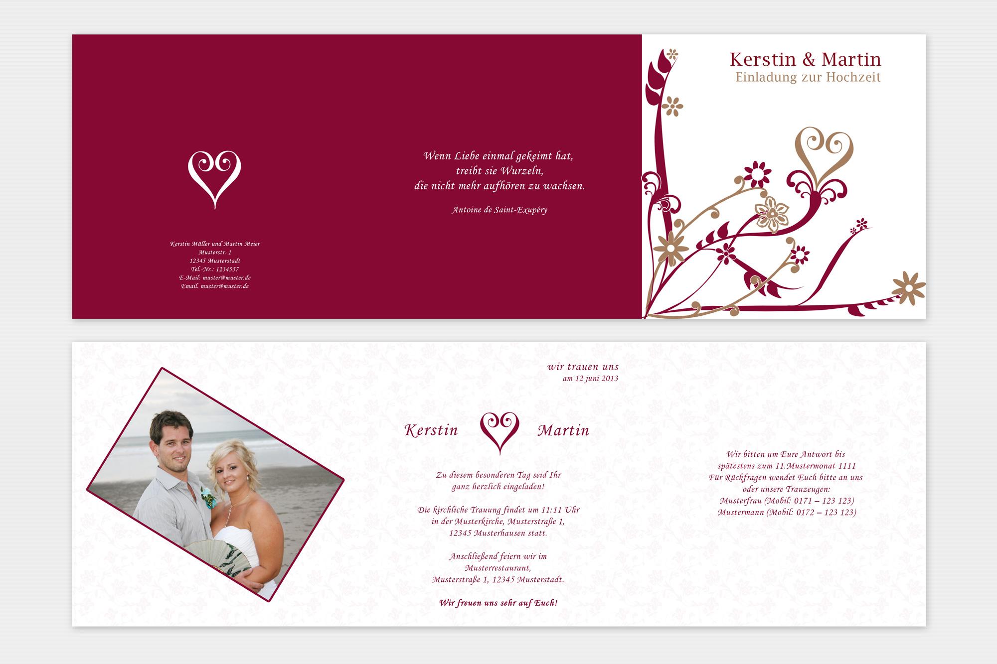 einladungskarten zur hochzeit » einladungskarten-design