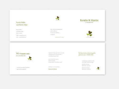 Einladungskarten-Design zur Hochzeit