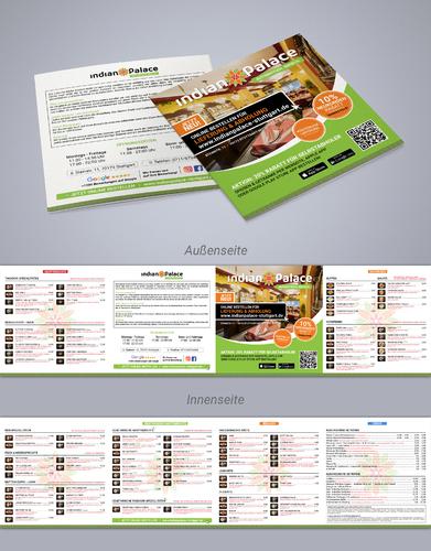 Flyer-Design für Online-Shop eines indischen Restaurants
