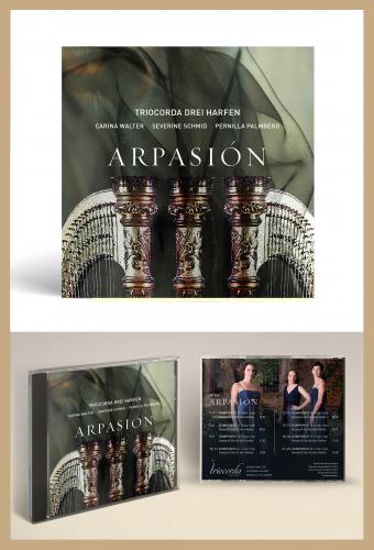 CD-/Plattencover für ein Harfen-Ensemble